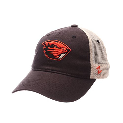 ZHATS NCAA Oregon State Beavers Adult Men University Relaxed Cap, Adjustable, Team Color/Stone