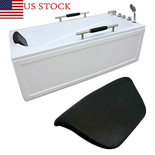 US Black Bath Spa Bathtub Pillow Cushion Neck Back Support Comfort Tub Headrest