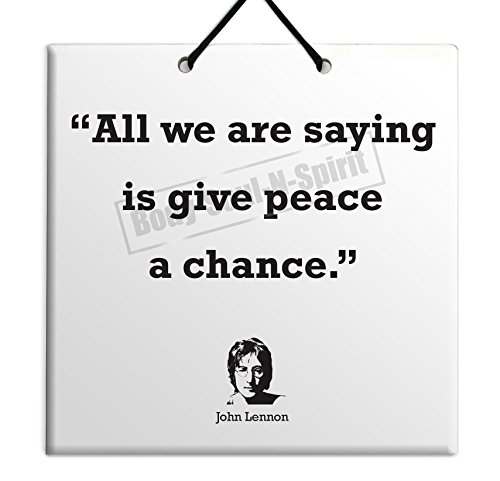 Churchill Tile (John Lennon - Quote Ceramic Wall Hanging Art Sign 15x15 CM -