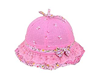 d79e717ad7e Baby Headwear Lovely Baby Floral Bowknot Sun Protection Hat Sun Visor  Toddler Packable Soft Cap for