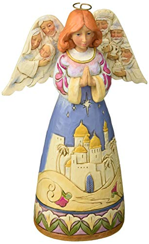Enesco Jim Shore Heartwood Creek Angel w/Nativity Sculptedwings w, Multicolor