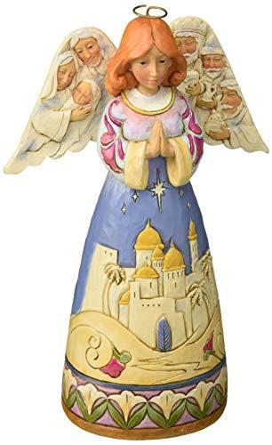 Enesco Jim Shore Heartwood Creek Angel w/Nativity Sculptedwings w, Multicolor