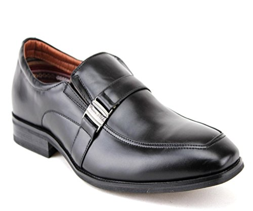 Ferro Aldo Mens 19512 Classic Slip On Mocassini Casual Scarpe Eleganti Nero