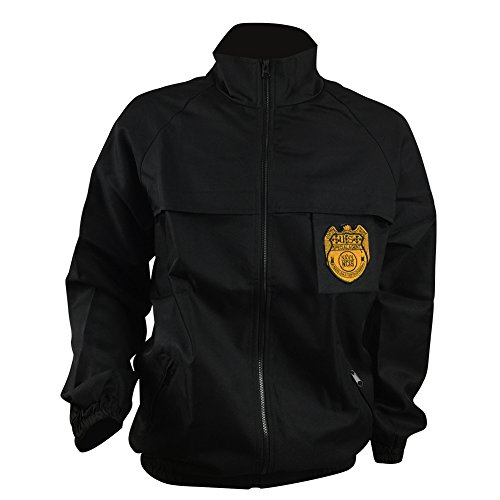 Allten Men's Cosplay Costume NCIS Black Staff Jacket Coat XS