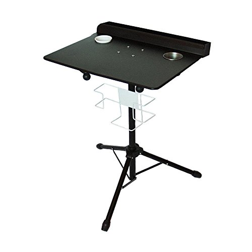 Tattoo Workstation, Tattoo Tripod Stand Adjustable Fixed Desktop Pro Tattoo Desk Table Display Rack Heavy Duty Iron Mobile Stand w/Removable Back Tray Salon Instrument for Tattoo Lovers Starters from MONIPA