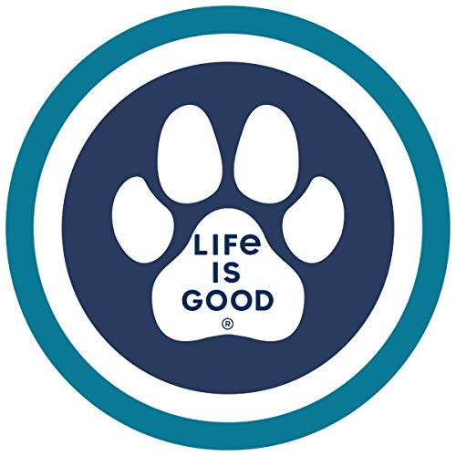"""Life is Good. 4"""" Circle Sticker: Paw Coin"""