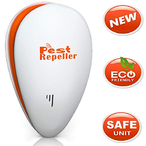 Ultrasonic Pest Repeller Repellent Indoor Pest Control Devices get rid of Rats Mice Ants Roaches Mosquitoes Insects Flea Spiders Other pest repell Device Advanced Apartment Home Garden Garage (Big)