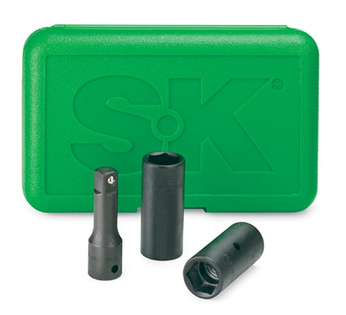 SK Hand Tools 4043 3-Piece 1/2-Inch Drive Impact Wheel Flip Socket Set