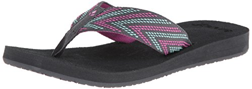 Reef Women's Sandy Love Sandal,Grey/Pink/Aqua,5 M US