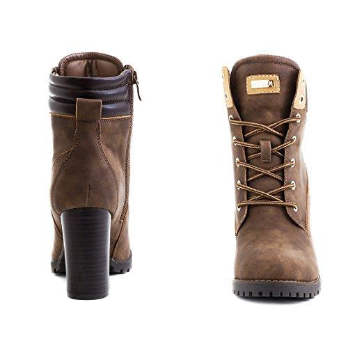 Marimo Women's Boots Khaki Milan ayGDGPHzC