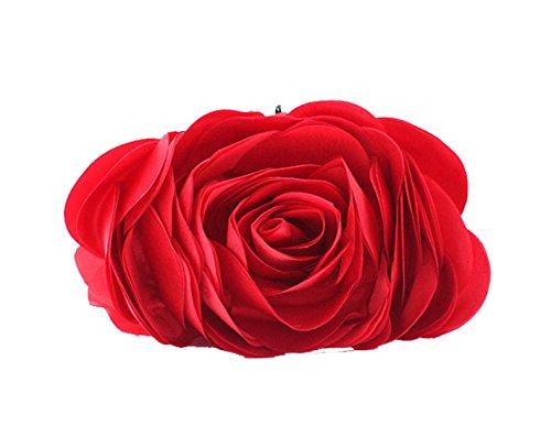 Aronvivi - Cartera de mano para mujer rose red(1) talla única red
