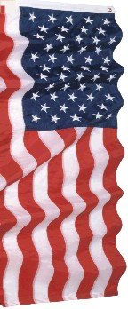 U.S. Flag, 2-ply Polyester  3' x 5' High Wind - Embroidered Stars