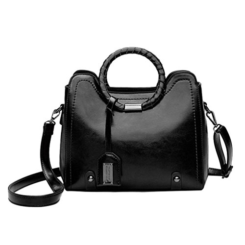 Messenger Fashionable Dexinx Shoulder Bag Bag Printing Crossbody Casual Pu Leather Woman Black Handbags pxdvwqS