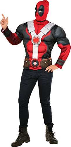 Rubie's Costume Co Marvel Men's Deadpool Muscle Chest Costume Top -