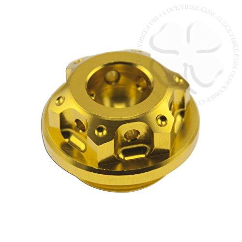 Kawasaki Race Style Oil Cap - Gold - Ninja 250 500, 636, ZX6R, ZX6RR, ZX7R, Z...