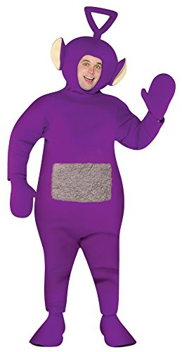 UHC Men's Teletubbies Tinky Winky Outfit Funny Theme Party Halloween Costume, (Teletubbies Costumes For Halloween)