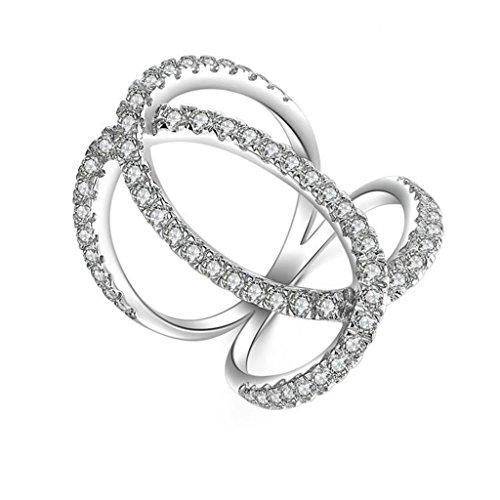 Gnzoe Jewelry, Women Wedding Ring Hallow Butterfly Cross Cubic Zirconia, Customized Ring by Gnzoe