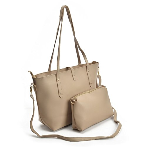 SALLY Handle Fashion Pu for Bags YOUNG Leather Ladies Large Apricot women Capacity 2 Satchel Pieces Top YBawxSqYr