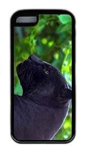 indestructible case jaguar black panther TPU Black Case for iphone 5C