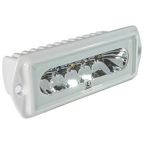 Lumitec 101099 Capri2 LED Flood Light, Flush Mount, White Housing, White Dimming, Blue (Blue Marine Housing)