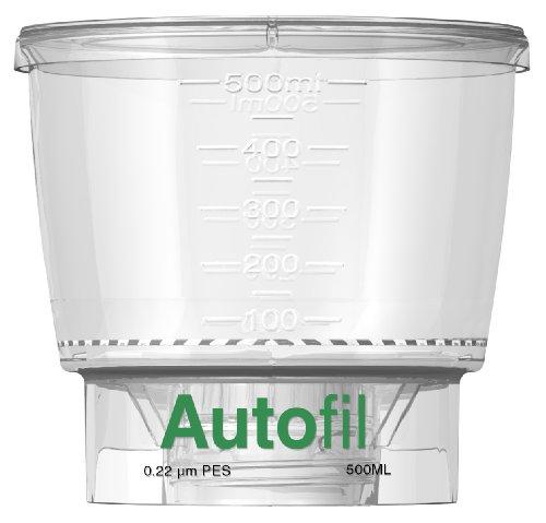 Autofil Sterile Disposable Vacuum Bottle Top Filters with 0.2um Sterilizing PES Membrane, 500mL, 24/CS by Foxx Life Sciences