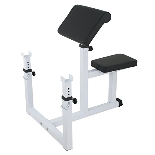BBBuy Fitness Preacher Adjustable Weight Bench Seated Preacher Isolated Dumbbell Biceps Training Station by BBBuy