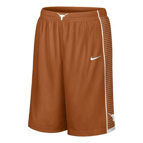 Texas Longhorns Burnt Orange Screen Printed College Replica Basketball Shorts By Nike (Small)