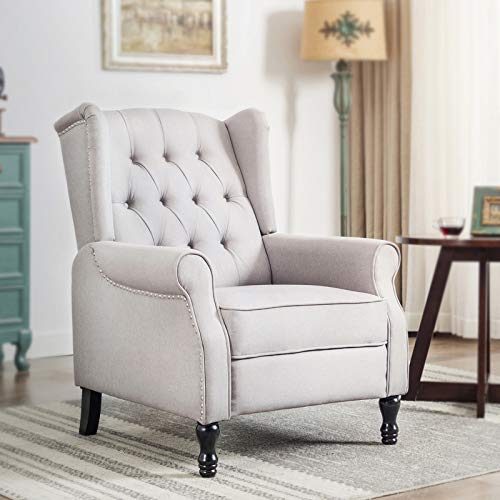 Roll Arm Wingback Chair - 3