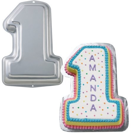 Novelty Cake Pan Number 1 - 12-3/4 Inch x 8-1/2 Inch x 2 Inch High