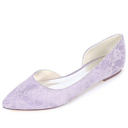 0 Chunky Cerrado Puntera 6cm 35 Plataforma Mujer Boda Purple yc Zapatos noche De Heels High L 42 S6vFXqn