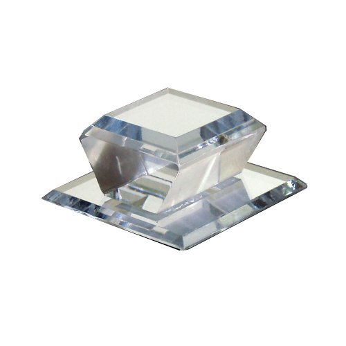 Mirart Self Stick Bevelled Mirrored Acrylic Knob Square,