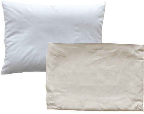 EMOOR Buckwheat Husk Pillow with Ohmi Linen Pillowcase(Solid) 17 x 25 in, Made in JAPAN.