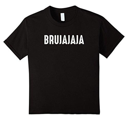 Kids Bruja Shirt Funny Halloween Spanish Witch Brujajaja 10 (Black And Grey Child Witch Wig)
