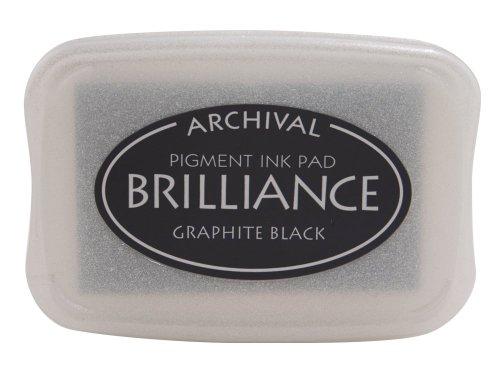 Tsukineko Brilliance Pigment Inkpad-Matte, Graphite Black ()