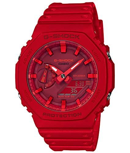 [카시오] 손목시계 G 쇼크 카본 코어 가이드 GA-2100-4AJF 맨즈 레드