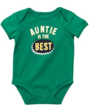 Carter's Auntie Is The Best Bodysuit GREEN 3 Mo