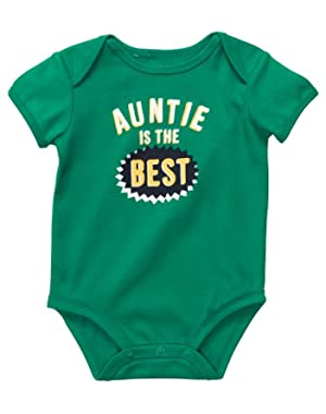 Carter's Auntie Is The Best Bodysuit GREEN 6 Mo
