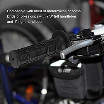 Bike Gummi Hand Bar End Grip Fixed Gear Grip f/ür Motorrad Fahrrad Wei/ß 1 Paar Motorrad Lenkergriffe