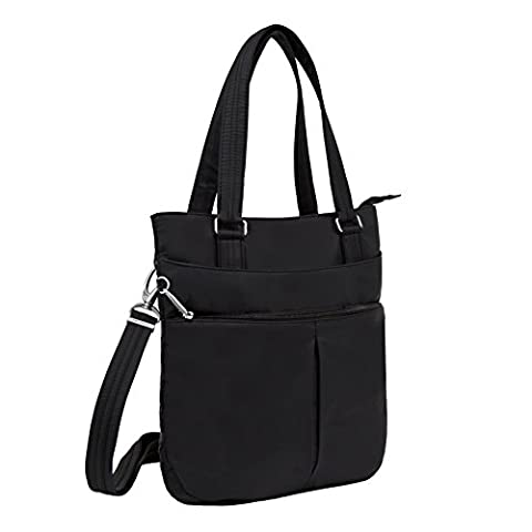 Travelon Anti-Theft Classic Tote, Black, One Size - Sporty Travel Tote