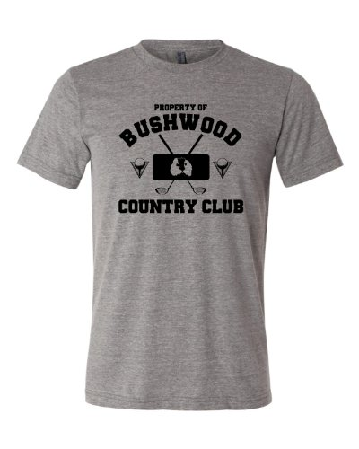 X-Large Grey Adult Property Of Bushwood Country Club Caddyshack Inspired Triblend Short Sleeve (Country Short Sleeve Tee)