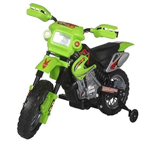 Kinderfahrzeug - Elektro Cross Kindermotorrad - 6V4,5Ah - Neuheit - 6V Akku (Grün) Grün