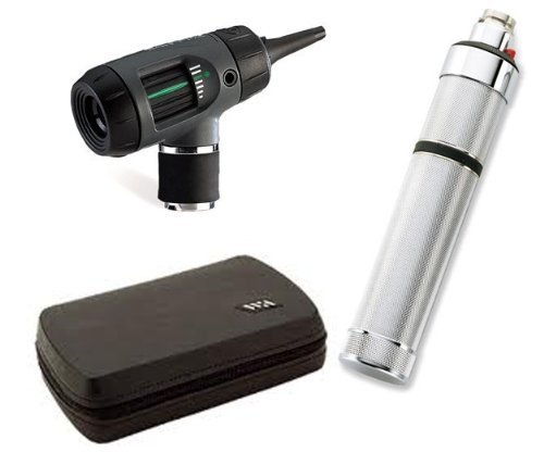 Welch Allyn 25070-M Otoscope Set with MacroView Otoscope, Direct Plug-In Handle, Hard Case by Welch Allyn