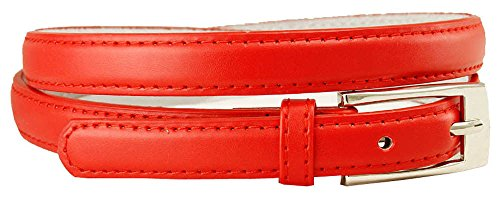 Solid Color Leather Adjustable Skinny Belt with Free Shipping, Medium (32