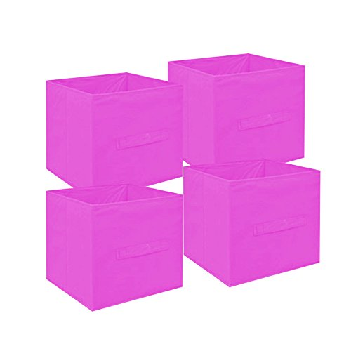 small-collapsible-storage-cube-4-pack-set-collapsible-storage-trunks-containers-fabric-pull-handle-b
