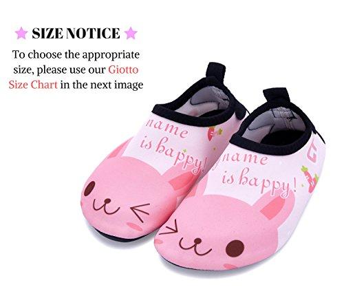 Giotto Enfants Nager Chaussures De Leau À Séchage Rapide Anti-dérapant Pour Garçons Et Filles B4-rose