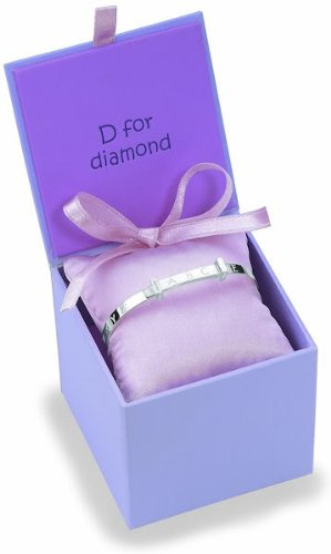 Filles Diamond Heart Bracelet Or