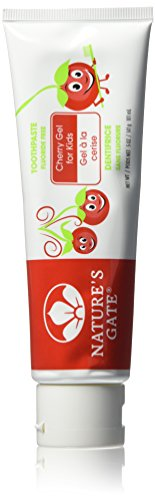 Natures Gate Toothpaste Gel, 5 Ounce - Cherry For (Kids Cherry)