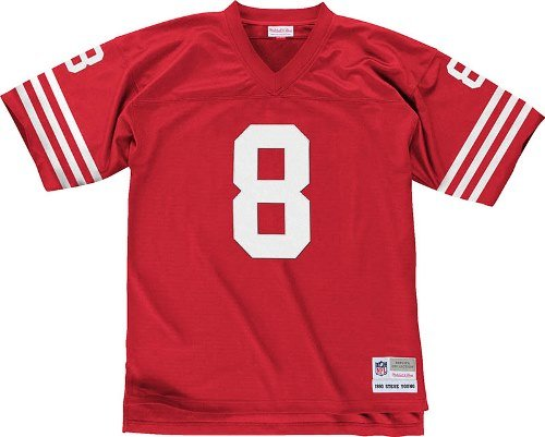 (San Francisco 49ers NFL Mitchell & Ness 1990 Steve Young #8 Replica Throwback Football Jersey (XX-LARGE) )