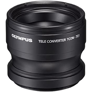 Olympus Telephoto Tough Lens Pack (lens and adapter) for TG-1 / 2 / 3 / 4 and TG-5 Cameras (Black with Red Adapter)