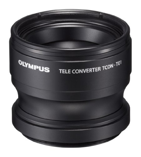 Olympus Telephoto Tough Lens Pack (lens and adapter) for TG-1 / 2 / 3 / 4 and TG-5 Cameras (Black with Red Adapter) by Olympus